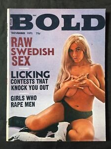 Vtg 1971 Bold Mag Uschi Digard Digart Cheesecake Girls Spicy Risque Girlie Pinup