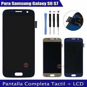 Pantalla Compleata Para Samsung Galaxy S6 S7 LCD Display Táctil SM-G920F G930F
