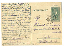 1944 Hungary postal card local use