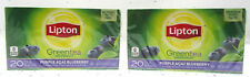 Lipton Green Tea ~ 0.8oz ~ Purple Acai Blueberry ~ 20 bags ~ Lot of 2
