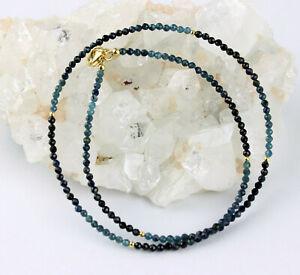 Tourmaline Blue Necklace Precious Stone Color Gradient Indicolite Necklace Noble