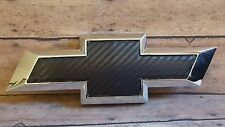 Black Carbon fiber Vinyl Sheets-2- U-Cut Decal-Overlay for Chevy Bowtie Emblems