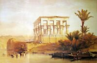 The Hypaethral Temple of Philae by David Roberts. Building Reproductions