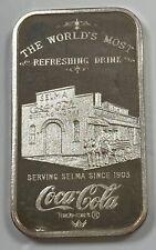 .999 1 oz Fine Silver Bar 75th Anniversary of Coca-Cola Selma, Alabama Edition