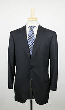 New. BRIONI Nomentano Black Striped Super 200's Wool 3 Roll 2 Suit 54/44 S $8295