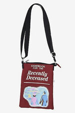 Beetlejuice Handbook For The Recently Deceased Canvas Crossbody Purse Bag Tote