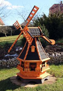 1,30 m große Windmühle, Windmühlen mit Solarbeleuchtung weiß oder bunt Typ 18.1