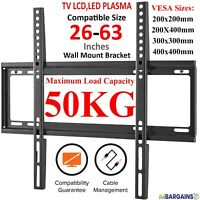 TV Wall Bracket Mount Slim For 26 30 32 40 42 50 63 Inch 3D LCD LED Plasma