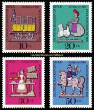 EBS West Berlin 1969 Welfare set - Tin Figures Michel 348-351 MNH**