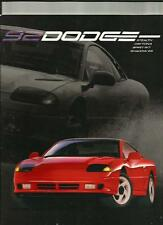 DODGE STEALTH ,DAYTONA, SPIRIT R/T AND SHADOW ES USA OVERSIZED CAR BROCHURE 1992
