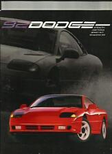 DODGE STEALTH ,DAYTONA, SPIRIT R/T AND SHADOW ES USA OVERSIZED CAR BROCHURE 1992