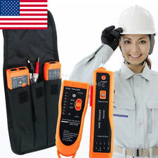 Wire Tracker Tracer Ethernet LAN Network Cable Telephone Telephone Tester +Bag