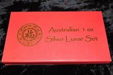 RARE! - COMPLETE SET AUSTRALIA 1 OZ. SILVER LUNAR SERIES 1 COINS 1999 - 2010