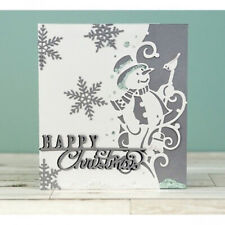 Christmas Snowman Metal Cutting Dies Scrapbooking Edge Border Craft Cards Decor