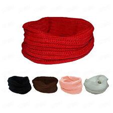 Winter Womens Fashion Scarf Knit Neck Scarves Circle Wool Scarf Warm Shawl Wraps