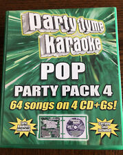 Party Tyme Karaoke - Pop Party Pack of 4 Audio Cds (4 Cd+Gs, 2011) 64 Songs