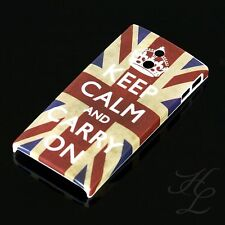 SONY LT22i XPERIA P Hard Case Schutz Hülle Handy Motiv Etui Keep Calm Carry ON