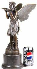 "Fabulous ""Good Fairy` Bronze Cast Metal Art Deco Nouveau Statue/17"" Tall Figure"