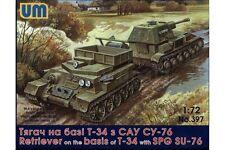 UNIMODELS 397 1/72 Retriever on T-34 Basis with SPG SU-76