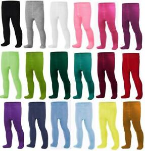 Baby BOYS GIRLS Cotton Rich Tights 0 - 36 Months & 3 - 4 Years Pants Leg Warmers