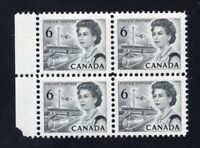 Canada 1967 Sc #460fi black Centennial PRINTED ON GUM SIDE BLOCK NH