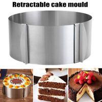 16-20cm Adjustable Round Stainless Steel Cake Mousse Circle Ring Mold Baking