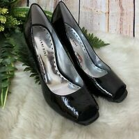 Gianni Bini Black Peep Toe Heels Womens Size 9.5