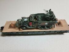 """Menards """"O"""" gauge Military Flat Car"""