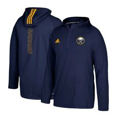 Buffalo Sabres Adidas Men's Navy Blue '17 Climalite Authentic Training Hoodie