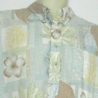TORI RICHARD Hawaiian Button Up Men's Floral Short Sleeve Aloha Shirt Size XL