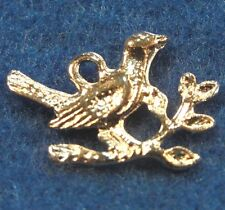 10Pcs. Tibetan Silver BIRD On Branch Detailed Small Charms Earring Drops BD147