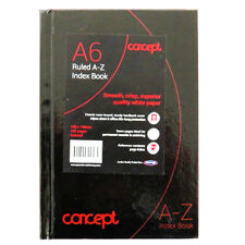 A6 Concept A to Z Index Book Ruled Notebook - 196 Pages, Size 148mm x 105mm