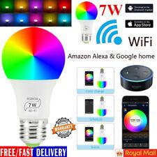 E27 WiFi Smart Light Bulbs RGB LEDLight Lamp Compatible with Alexa Google Home@