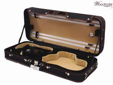 Pro. Enhanced Wooden Double Violin case fit 2x 4/4 Size Violin/Body Length-355mm