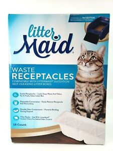 LitterMaid Waste Receptacles, Sealable 18-count 3rd Edition NEW Kitty Cat Litter