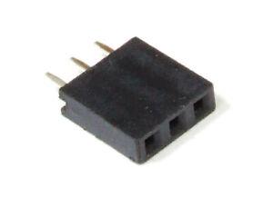 25x 3-Pin Pol Single Row Header Female Straight Socket Buchsen-Stift-Leiste 2.54