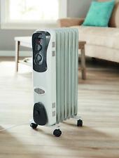 2017 Electric Oil Filled Radiator 1500W Space Room Heater Thermostat Radiant New