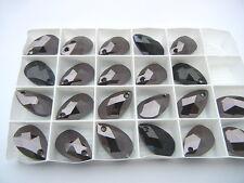 5 swarovski crystal pendants,22x13mm special coated #6106