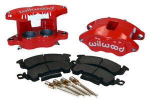 "Wilwood D52 Brake Caliper & Pad Set w/pins Front 1.28"" Red Float # 140-11290-R"