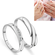 Adjustable Couple Ring Men Women Promise Couple Wedding Band Ring Gift