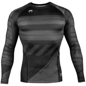 Venum AMRAP Long Sleeve Compression T-Shirt - Black/Gray