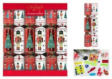12 Luxury Christmas Crackers - Soldier and Christmas Tree Design