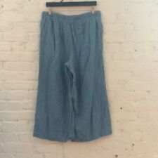 Madewell Lightweight Denim Cropped Pull On Wide Leg Pants // MTW Clothing