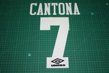 Flocage CANTONA n°7 blanc pour maillot MANCHESTER UNITED  patch football -