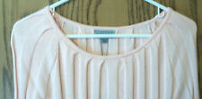 NWT - Org. $58 - JOSEPH A Pretty Pink Ribbed Sweater  - Size PXL