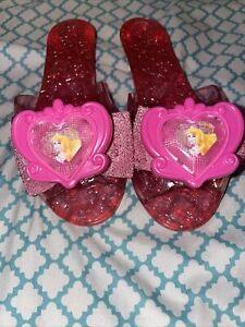 Girls Sleeping Beauty Dress Up Shoes Light Up