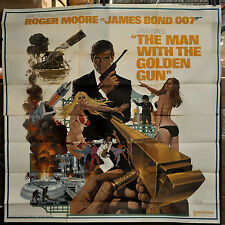 THE MAN WITH THE GOLDEN GUN 1974 ORIG 81X81 MOVIE POSTER BOND 007, ROGER MOORE