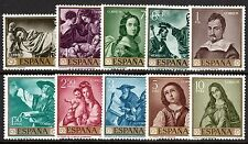 Spain - 1962 Paintings (V) - Mi. 1304-13 MNH (1304 MH)