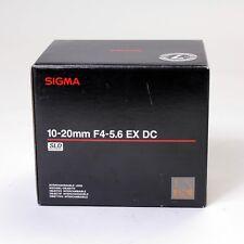 SIGMA 10-20mm f/4-5.6 EX DC HSM - CANON