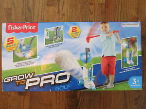 Fisher Price Grow to Pro Kids Boys Girls Golf Putter Driver Bag Set - New